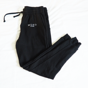 Black Logo Embroidered Joggers