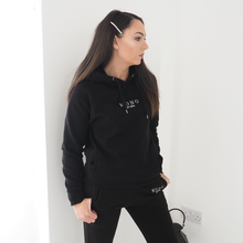 Load image into Gallery viewer, Black Embroidered Logo Hoody