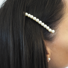 Load image into Gallery viewer, Single Pearl Embellished Hair Slide