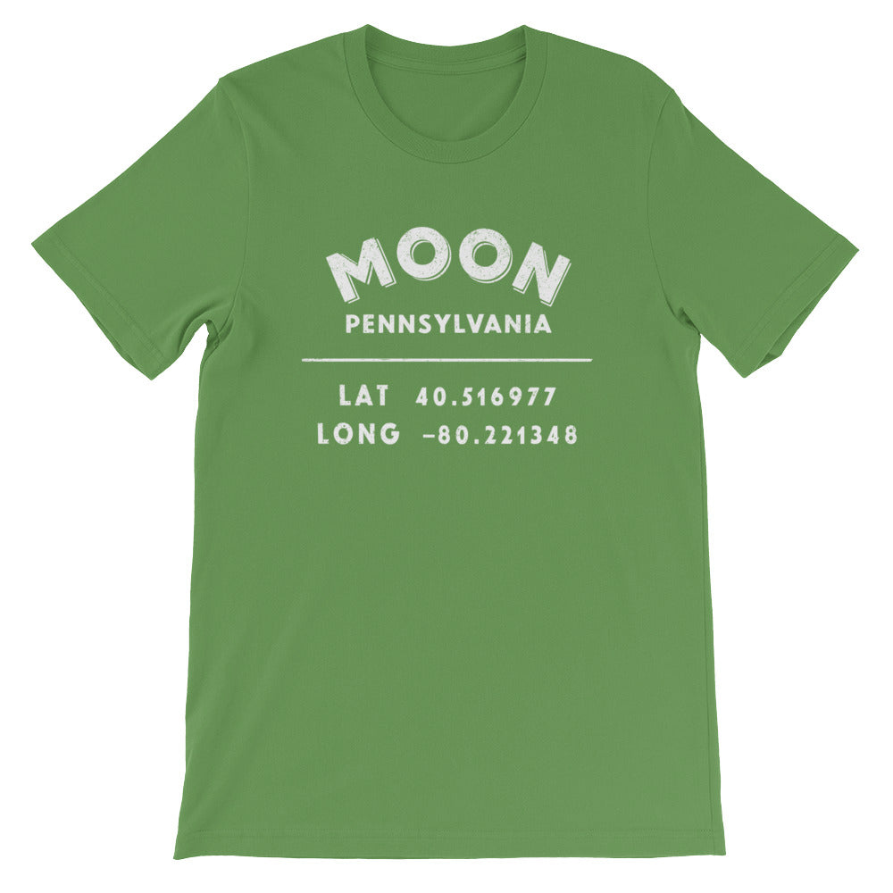 """Moon, Pennsylvania""- Unisex Short-Sleeve T-Shirt"