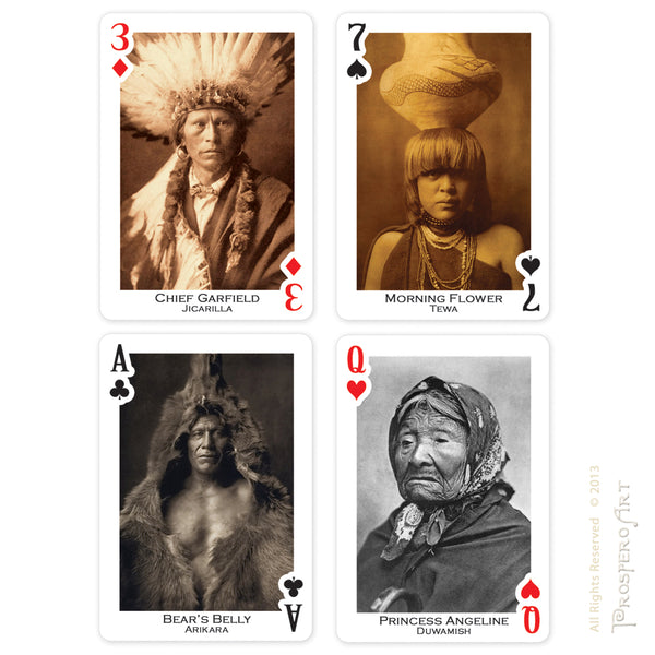 Native American Playing Cards ~ Edward Curtis