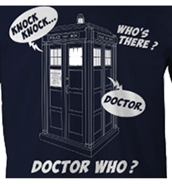T-shirt Doctor Who - Knock Knock Doctor Who ? - MOVIESTORE
