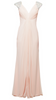 FOREVER UNIQUE - Lowri Maxi Dress Nude - Designer Dress hire