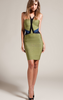 HERVE LEGER - Two Tone Bandage Dress - Designer Dress hire