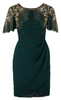 Self Portrait - Emerald Chiffon Gown - Designer Dress hire
