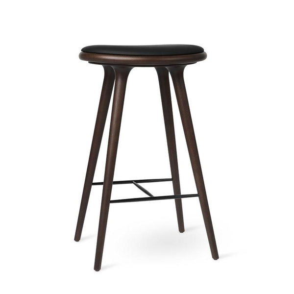 High Stool | Dark stained beech | 74 cm