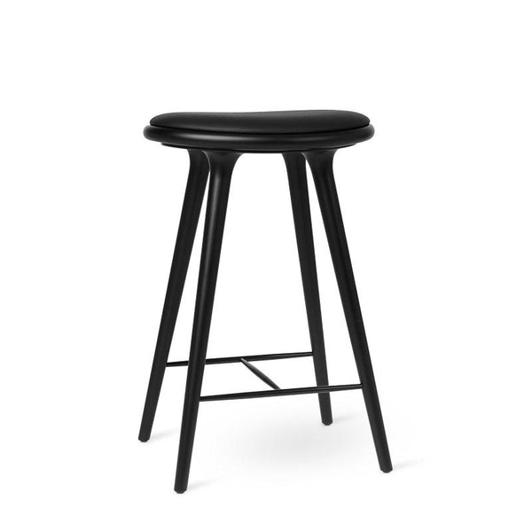 High Stool | Black stained beech | 69 cm