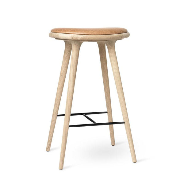 High Stool | Soaped oak | 74 cm