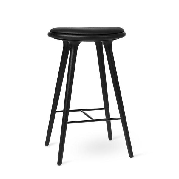 High Stool | Black stained oak | 74 cm
