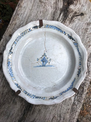 18th Century French Quimper Plate (large)