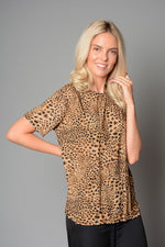 Ladies Round Neck Leopard Print Top (Pack of 10) £1.25 Per Garment