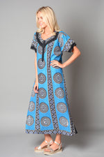 Ladies 3 Button Cotton Nightie Style Kaftan (Pack of 20) £4.00 Per Garment