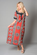 Ladies 3 Button Cotton Nightie Style Kaftan (Pack of 25) £4.00 Per Garment