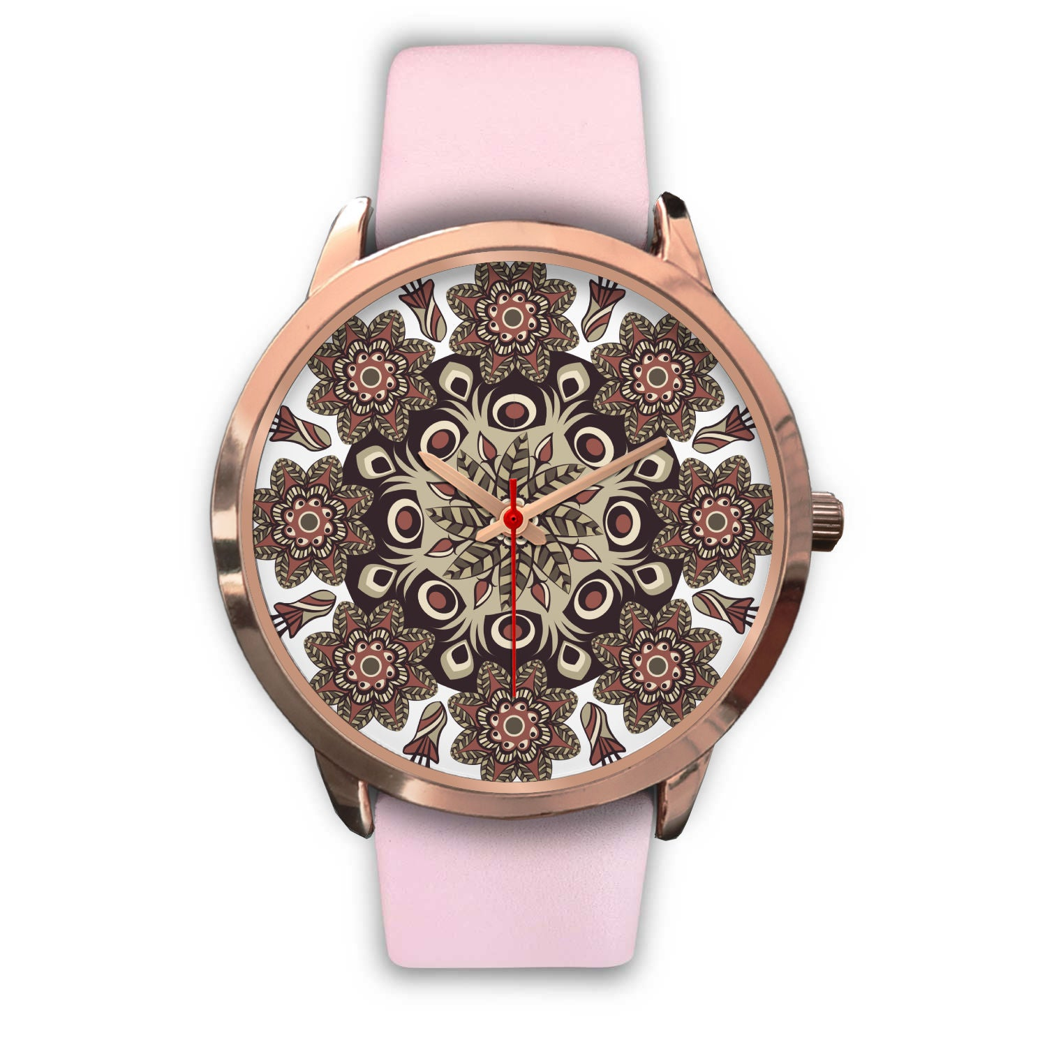 Floral inspired Rose Gold Watch - Hifza Apparel
