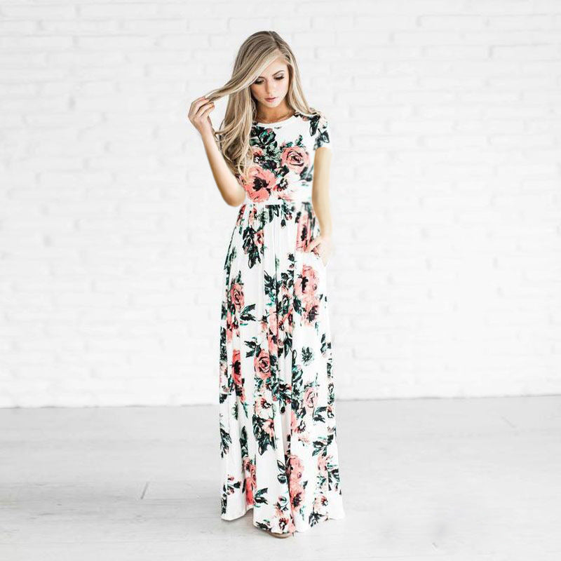 Floral Maxi Dress - Hifza Apparel