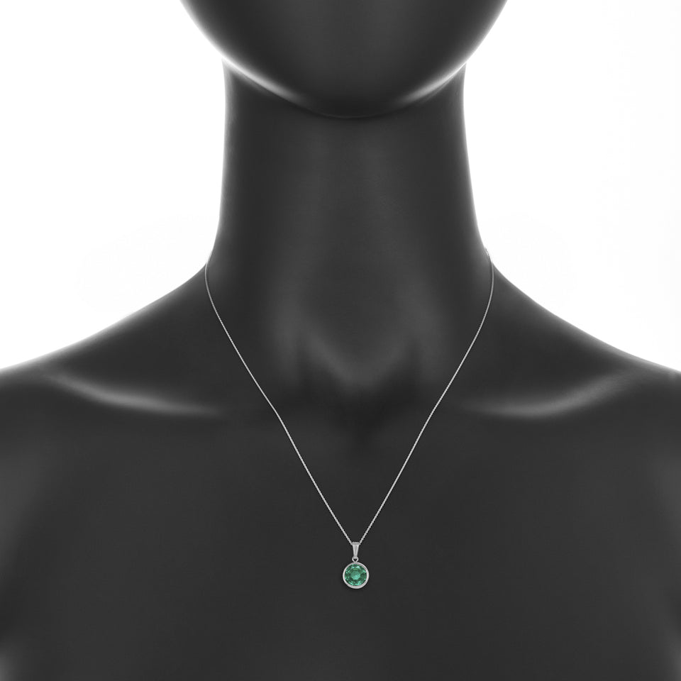Doublet Emerald  Birthstone Pendant ~ May Birthstone