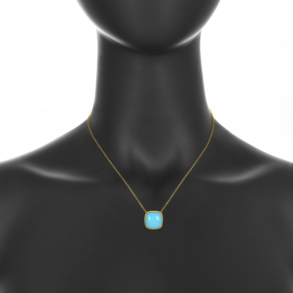 Sierra Turquoise Coral Pendant