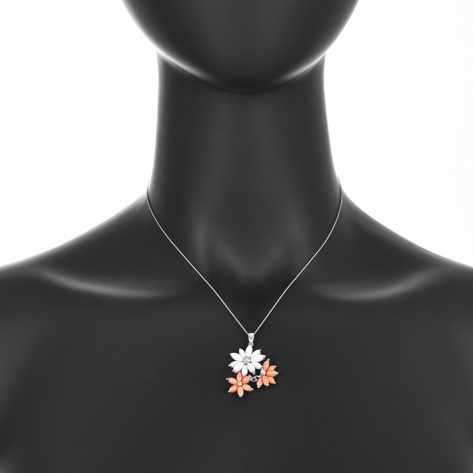 Star Coral Diamond Pendant