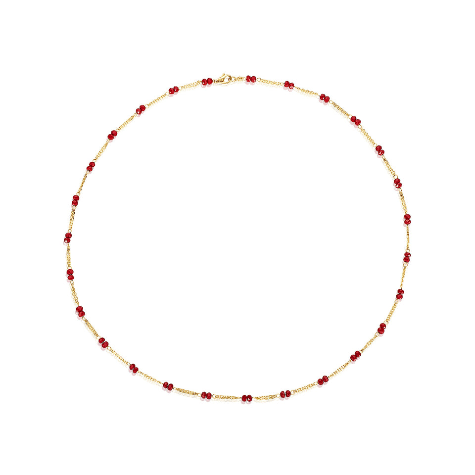 14kt Red Crystal Necklace