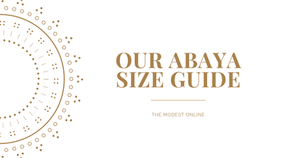 How to choose the right size abaya