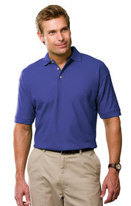 Blue Generation Mens French Blue Cotton Pique Polo Shirt