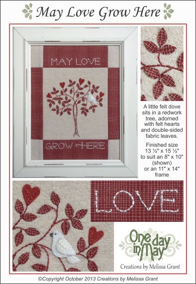 May Love Grow Here Needlework Pattern