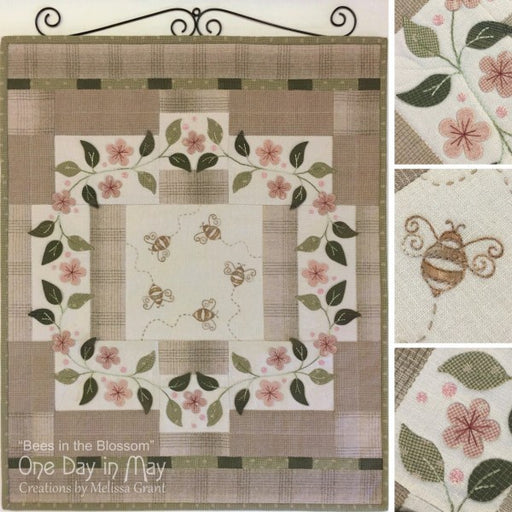 Bees in the Blossom Wallhanging Pattern
