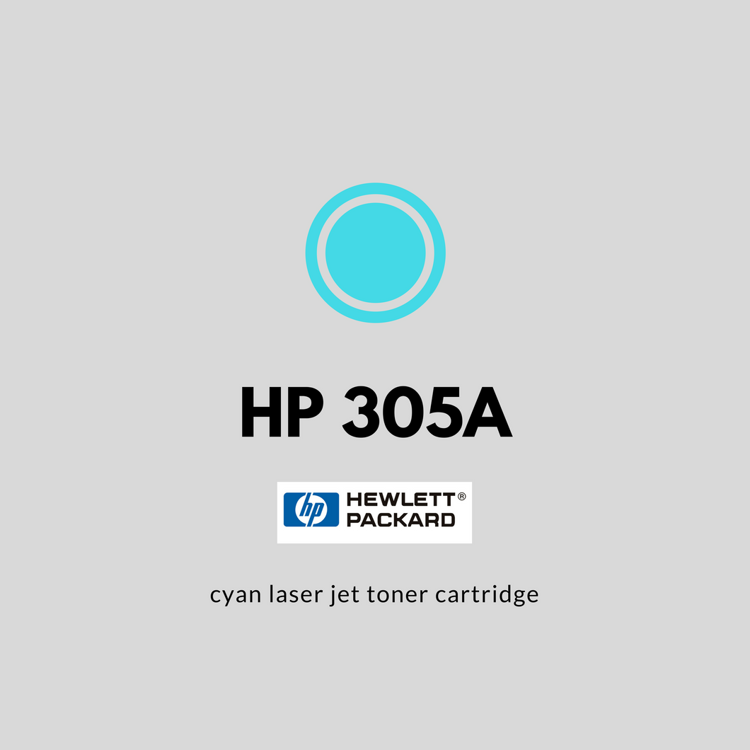HP 305A (CE411A) | OEM | Cyan Original Laser Jet Toner Cartridge