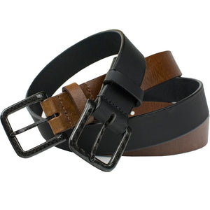 Zero metal belt set - one black belt, one brown belt - both made in the USA with 100% carbon fiber buckles