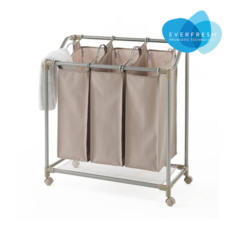 Rolling Deluxe Triple Laundry Sorter with EVERFRESH® Odor Control - Style 5440