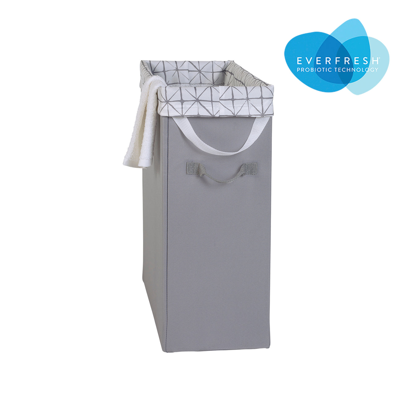 Slim Space-Saving Fabric Laundry Hamper with EVERFRESH® Odor Control - Style 5446