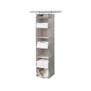 Hanging 6-Shelf Closet Organizer with Top Shelf - Harmony Twill Collection - Style 7750