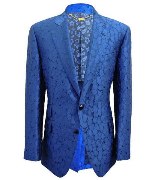 Blue Floral Dress Jacket