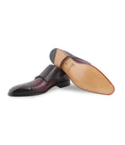 Brown Double Monk-straps
