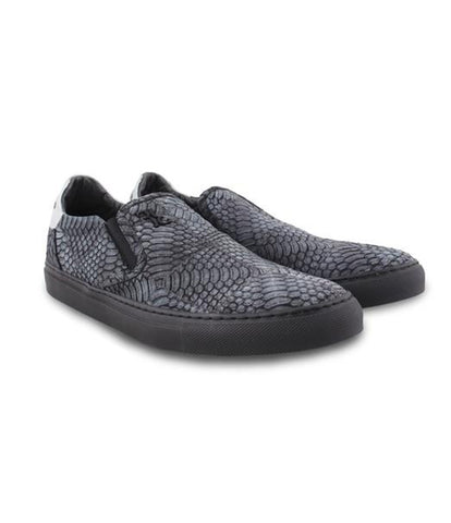 Grey Silver Slip-ons, Size 40