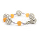PEACH MOONSTONE BRACELET IN 925 SILVER