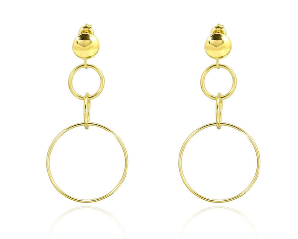 TRING EARRINGS IN 925 STERLING SILVER & 18K GOLD PLATING - Taula Pte Ltd