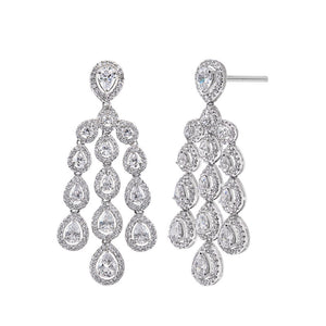 Waterfall Effect Shimmering Earrings / Danglers