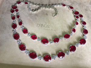 PreOrder / Rani Haar in Rubies and Diamond Simulants / Necklace