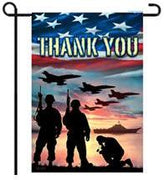Thank You Troops Garden Flag