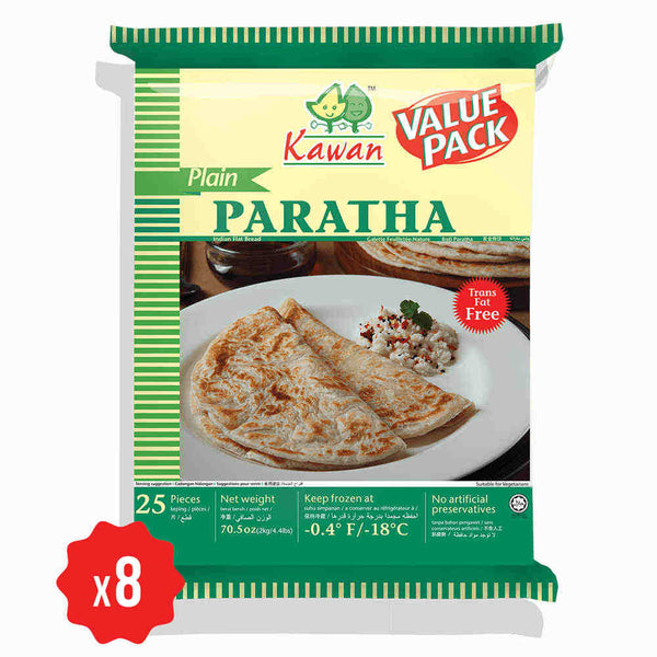 [Carton] Plain Paratha Value Pack (25 pcs x 8 packets)