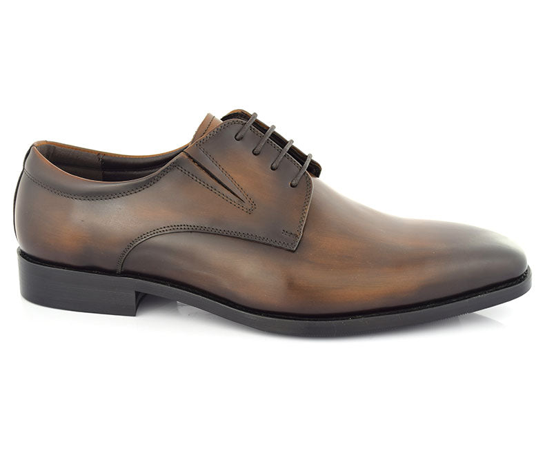FLOGOS-Men's Formal Shoes-Brown