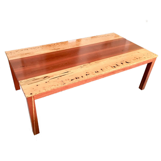 Rare Birdseye Blackbutt and Red Gum Dining Table-dining table-Wildwood Designs Furniture