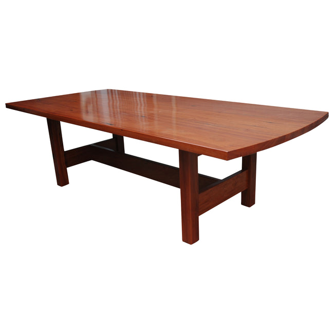 Red Gum Dining Table with H Leg Design-dining table-Wildwood Designs Furniture