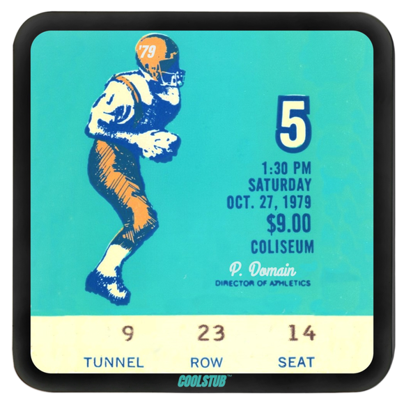 Affordable Father's Day Sports Gifts: 1970's Ticket Coasters by Coolstub™