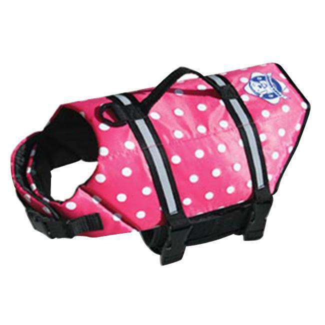 Paws Aboard Medium Doggy Life Saver - Preserver Pink Polka Dot Jacket 20 To 50 Lbs-Paws Aboard-DirtyFurClothing