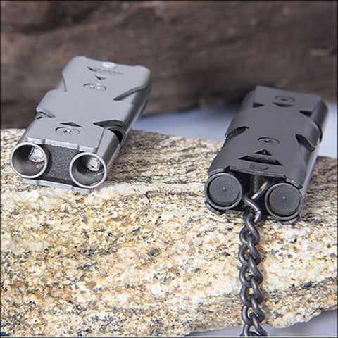 Portable Aluminum Safety Whistle - Whistles