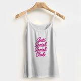 Anti Social Social Club Handwritten Woman's Tank Top Halter Top | Leaftunes