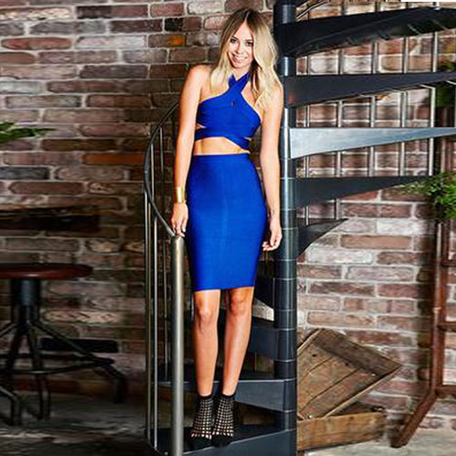 Cobalt Bandage Dress