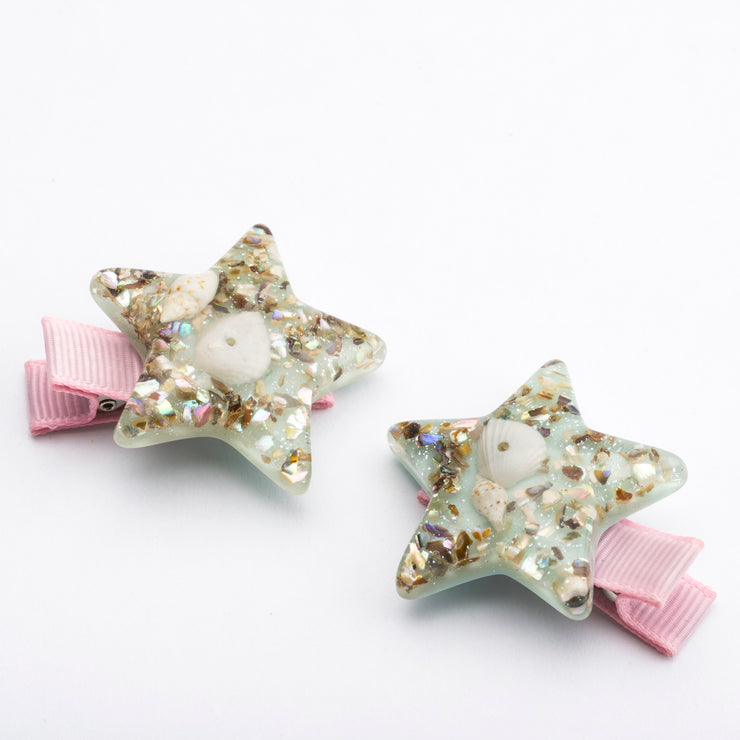 Sea Star Shell Hair Clip